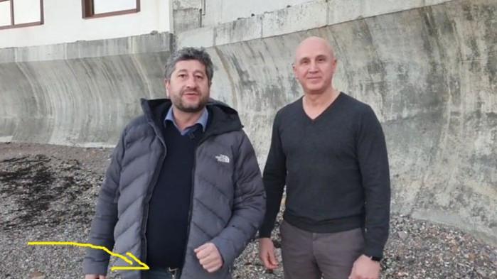 Христо Иванов с разкопчан дюкян на Росенец