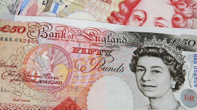 Британската лира е най-скъпа от близо три години насам