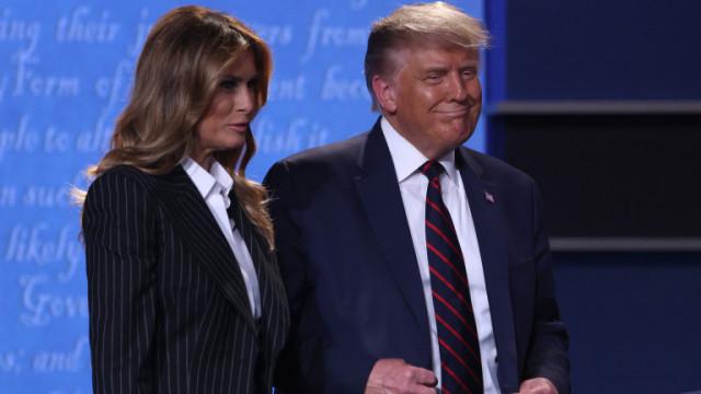 Доналд и Мелания Тръмп и първата им обща поява след напускането на Белия дом