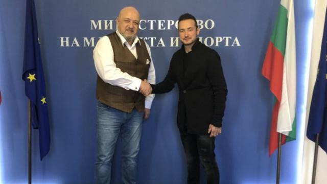 Министър Кралев се срещна с европейския шампион по мотоциклетизъм Мартин Чой