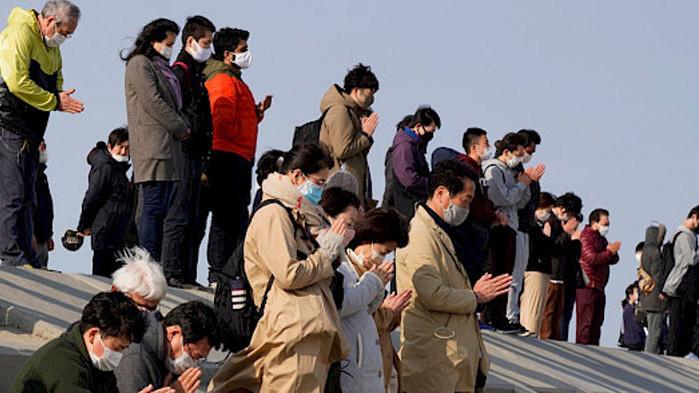 Церемония по почитане на жертвите на земетресението и последвалото цунами