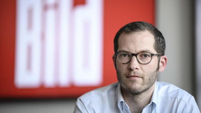 "Главният редактор на германския всекидневник ""Билд"" Юлиан Райхелт, срещу когото"