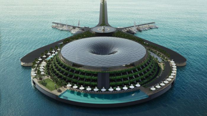 Турската архитектурна компанияпроектира плаващ еко хотел, който вероятно ще бъде
