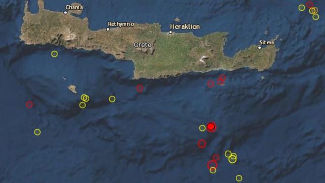 Ново земетресение с магнитуд 5,1 разлюля остров Крит