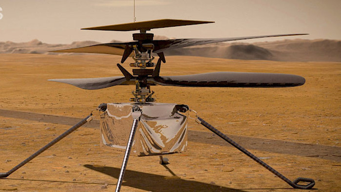 """Мини-хеликоптерът на НАСА """"Ingenuity"""" кацна на Марс"""
