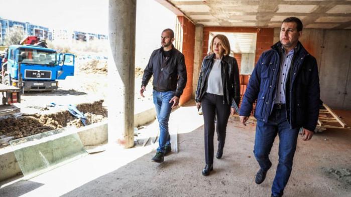Кметът на София провери изграждането на детската градина Строителството на