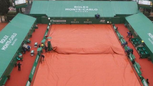 Дъжд прекъсна тенис турнира в Монте Карло