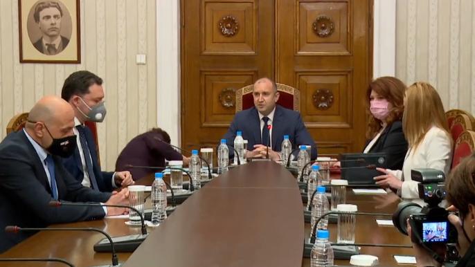 Започнаха консултациите при президента Румен Радев за съставяне на правителство.