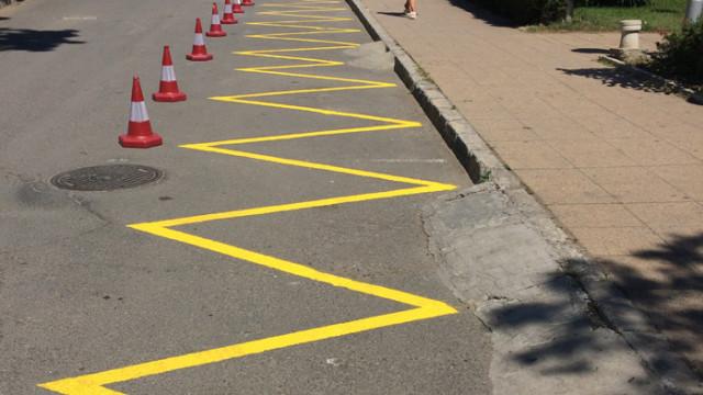 Три дни полагат маркировки по централни варненски улици