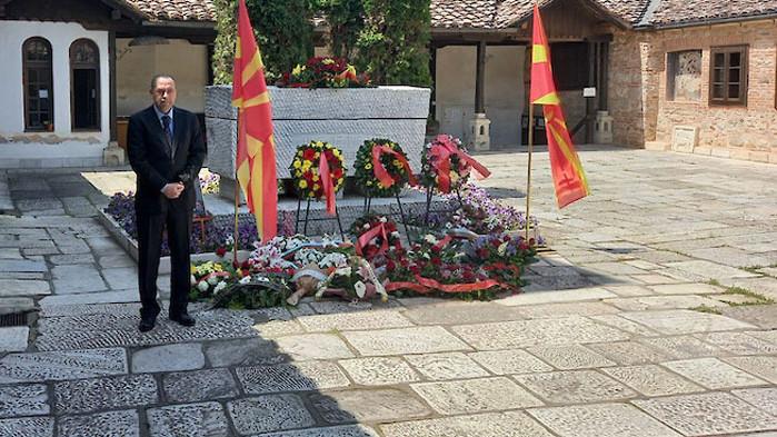 България почете Гоце Делчев в Скопие