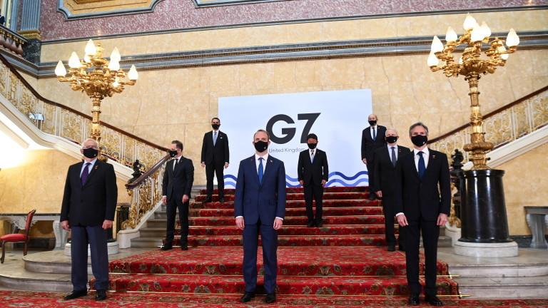 Започна срещата навъншните министри от Г-7 в Лондон. Представителите на