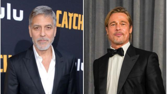 Как Джордж Клуни се пошегува с Брад Пит?