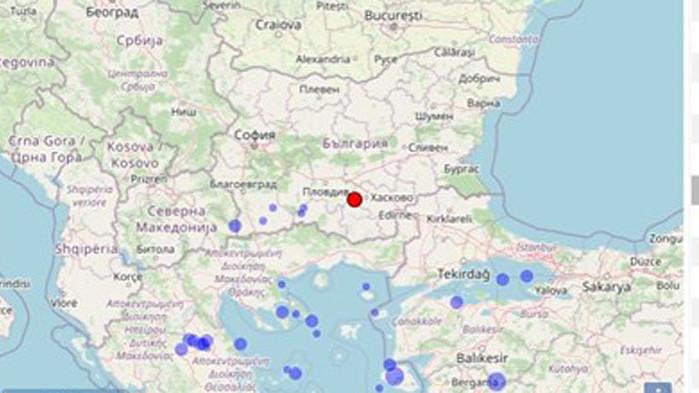 Леко земетресение е станало край Пловдив вчера. Трусът е регистриран