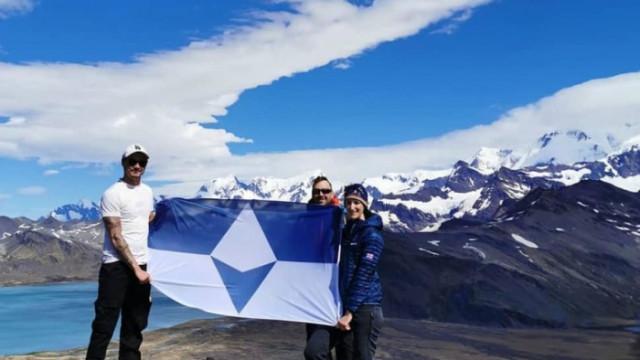 Антрактида, Ивън Таунсенд и първият официален флаг на ледения континент