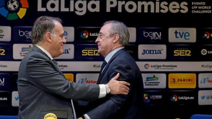 Шефът на испанската футболна централа Хавиер Тебас откровено нападна президента