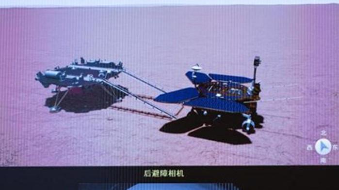 """Първият китайски марсоход """"Джужун"""" стъпи на Червената планета в събота"""