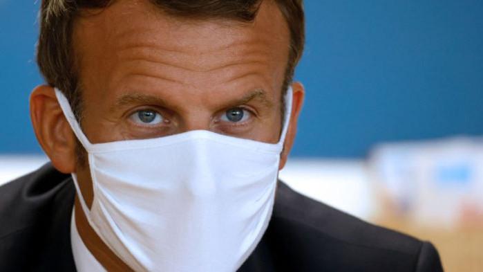 Френският президент Еманюел Макрон, който се зарази с КОВИД-19 през