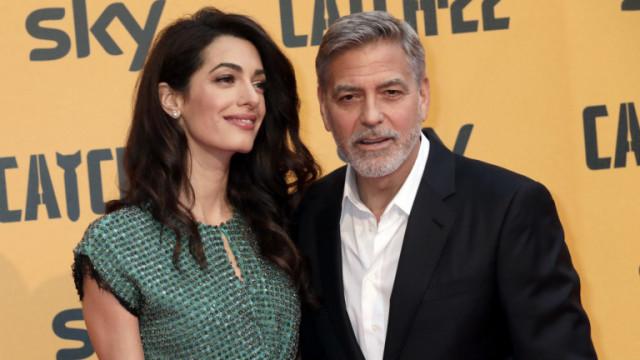 Джордж Клуни и Амал Клуни с двоен празник