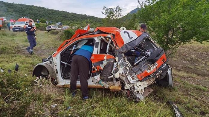 Тежка катастрофа спря рали в Сливен, турски пилот е сериозно пострадал (ВИДЕО)