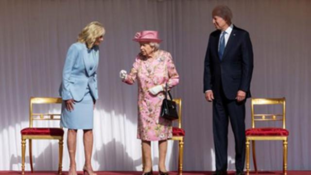 Джо Байдън и съпругата му пиха чай с кралица Елизабет II