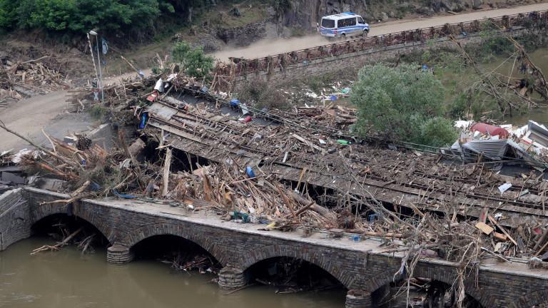 Богата Германия иска помощ от ЕС за възстановяване на инфраструктурата след наводненията