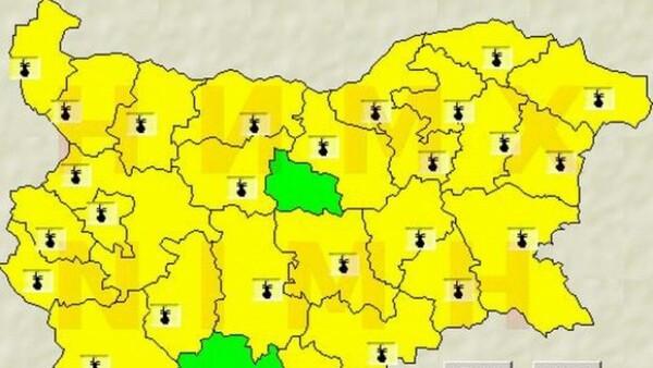 Жълт код за високи температури е в сила за утре в област Варна