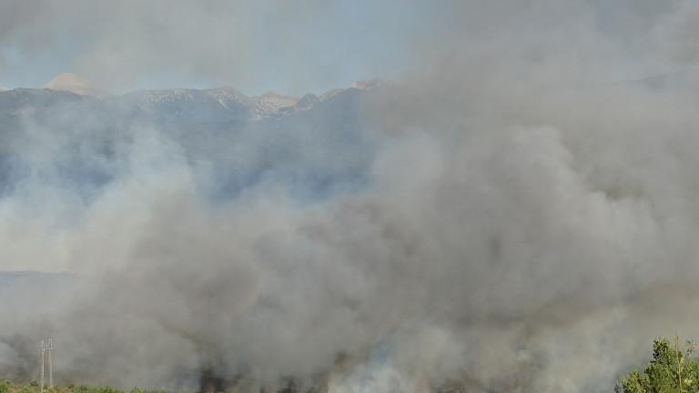 Локализиране пожарът, който пламна днес в следобедните часове край кюстендилското