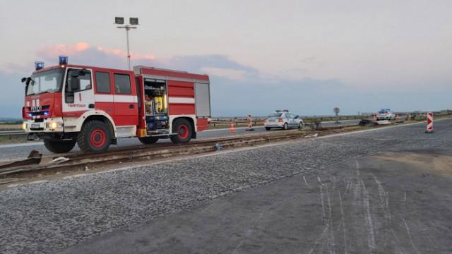 """През септември започва ремонтът на участъка от тежката катастрофа на """"Тракия"""""""