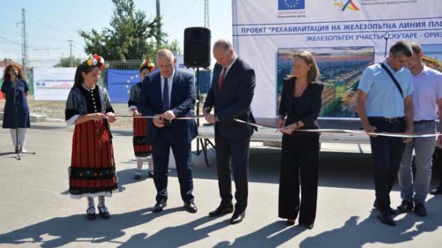 Министър Желязков: До 3 години жп линията Пловдив – Бургас ще бъде като европейските железници