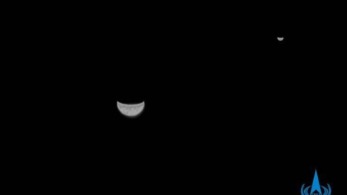 Китайска сонда изпрати снимка на Земята и Луната на път за Марс