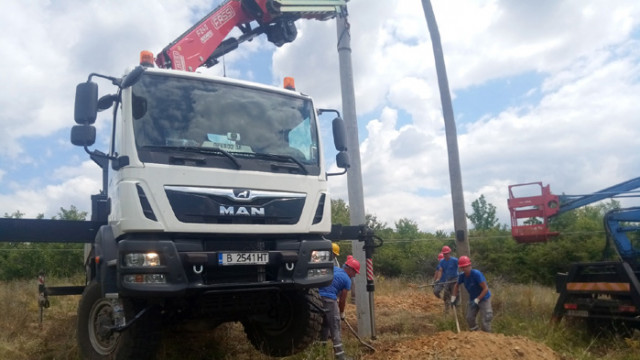 ЕРП Север извърши рехабилитация на въздушната мрежа на село Благоево след нерегламентирана сеч