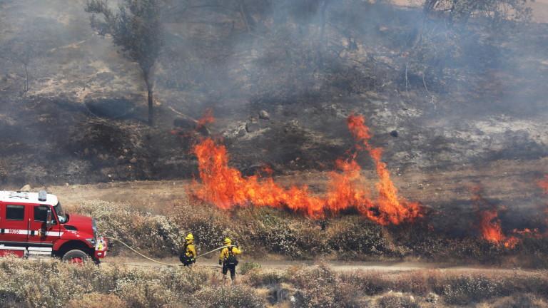 Пожар избухна между харманлийските села Българин и Рогозиново
