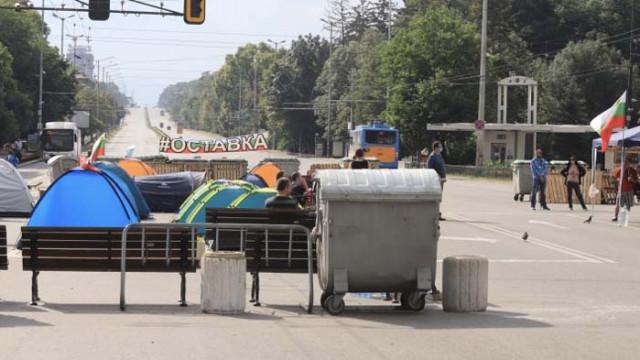 МВР показа кадри от вчерашната блокада в София (ВИДЕО)