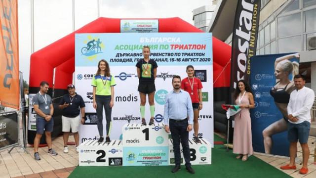 Божилов и Камбурова със златните медали в Държавното първенство по триатлон